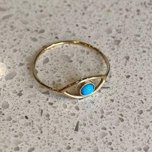 Kristen Elspeth 14k gold Evil Eye Ring